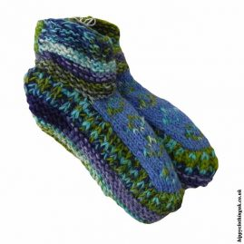 Multicoloured-Fleece-Lined-Wool-Socks