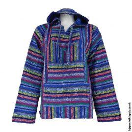 Mexican-Jerga-Baja-Hooded-Hippy-Top-Multicoloured