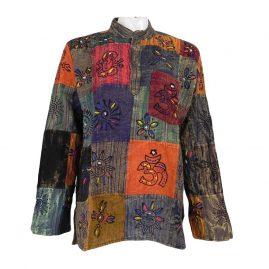Multicoloured-Patchwork-Grandad-Shirt